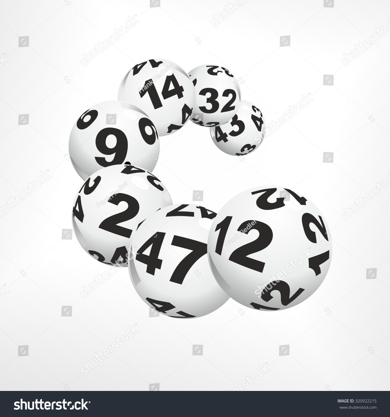 Many Lottery Balls Good Luck Charms Stock Illustration 320922215