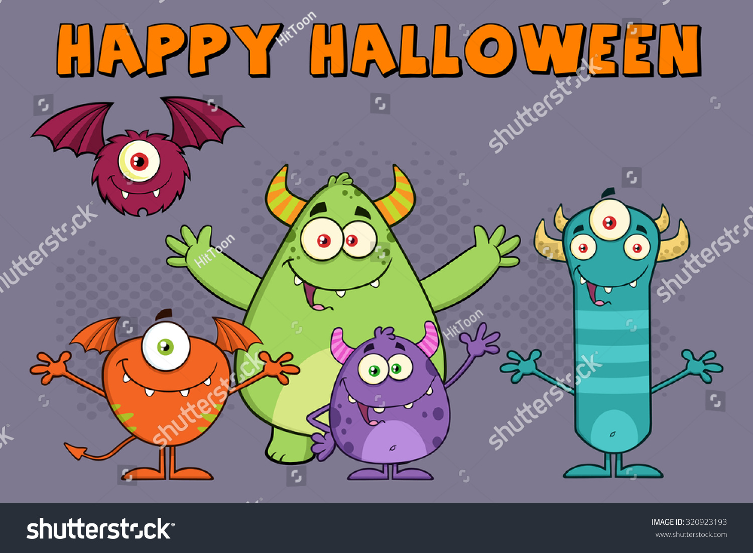 Funny monsters cartoon characters raster illustration stock funny monsters cartoon characters raster illustration greeting card kristyandbryce Gallery