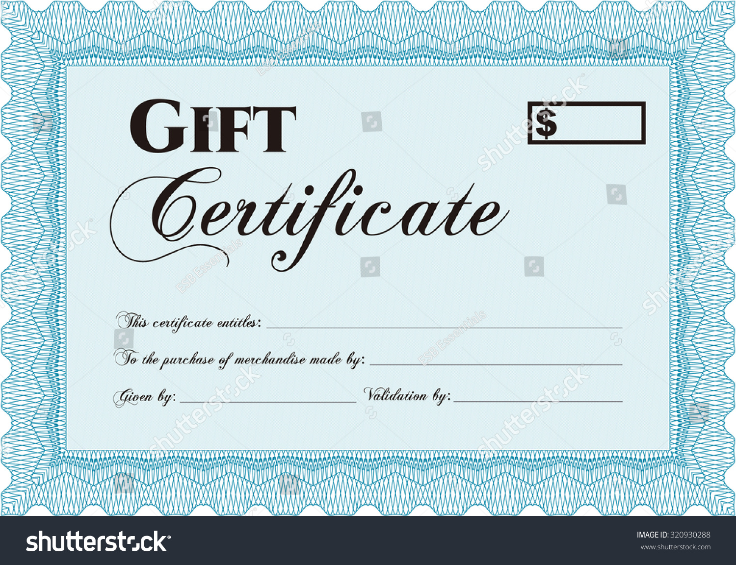 retro gift certificate template elegant design stock vector retro gift certificate template elegant design vector illustration easy to print