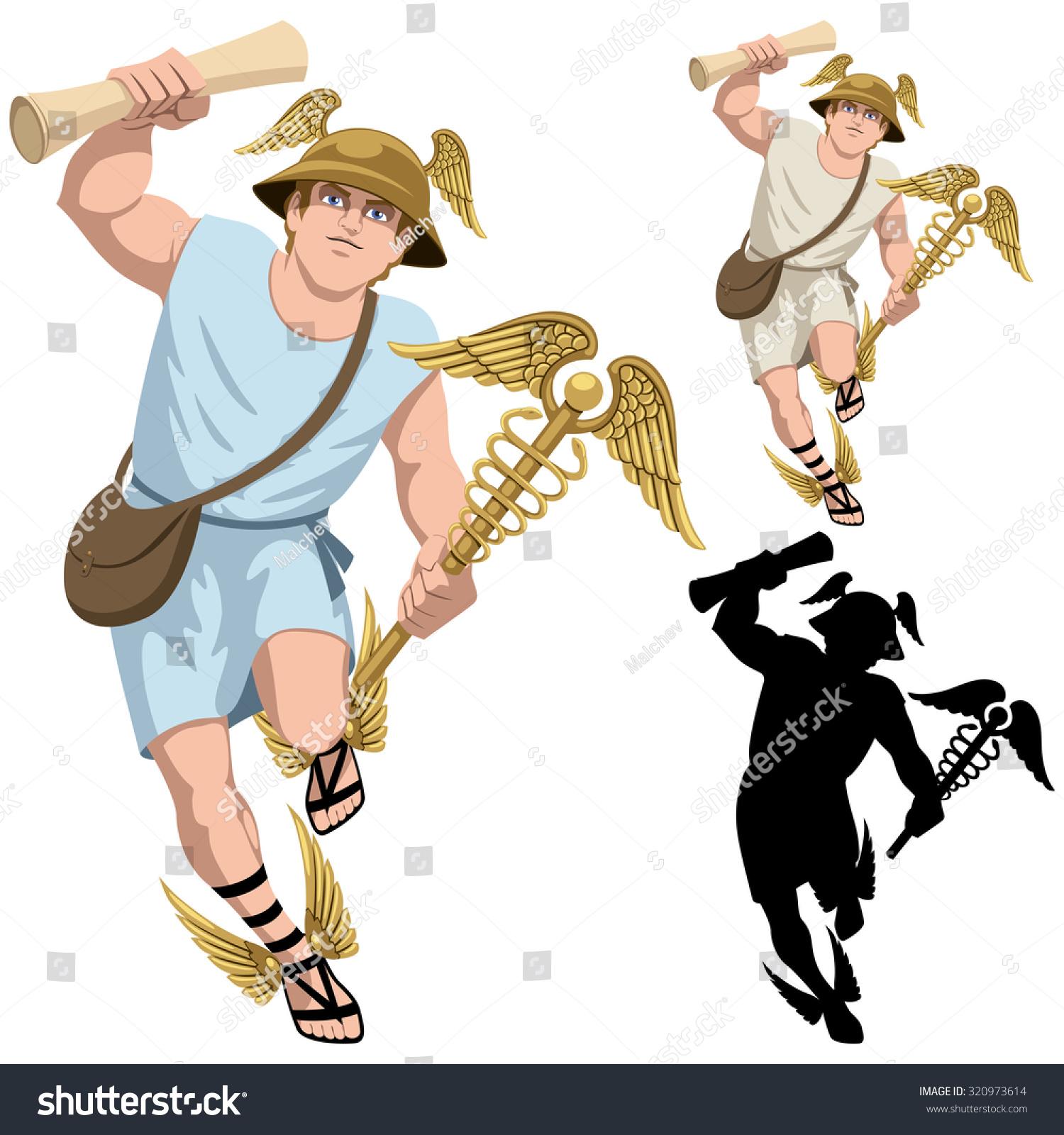 Uncategorized Hermes God hermes greek god isolated on stock vector 320973614 white and in 3 versions