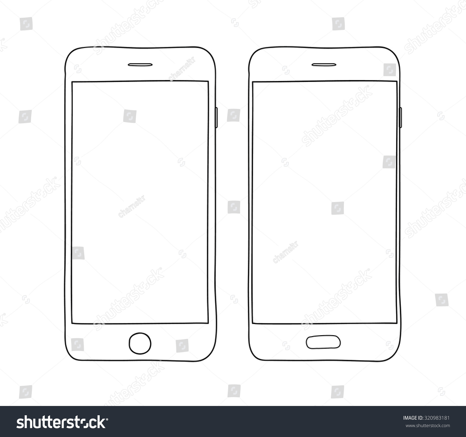Image Gallery: Mobile phones drawing