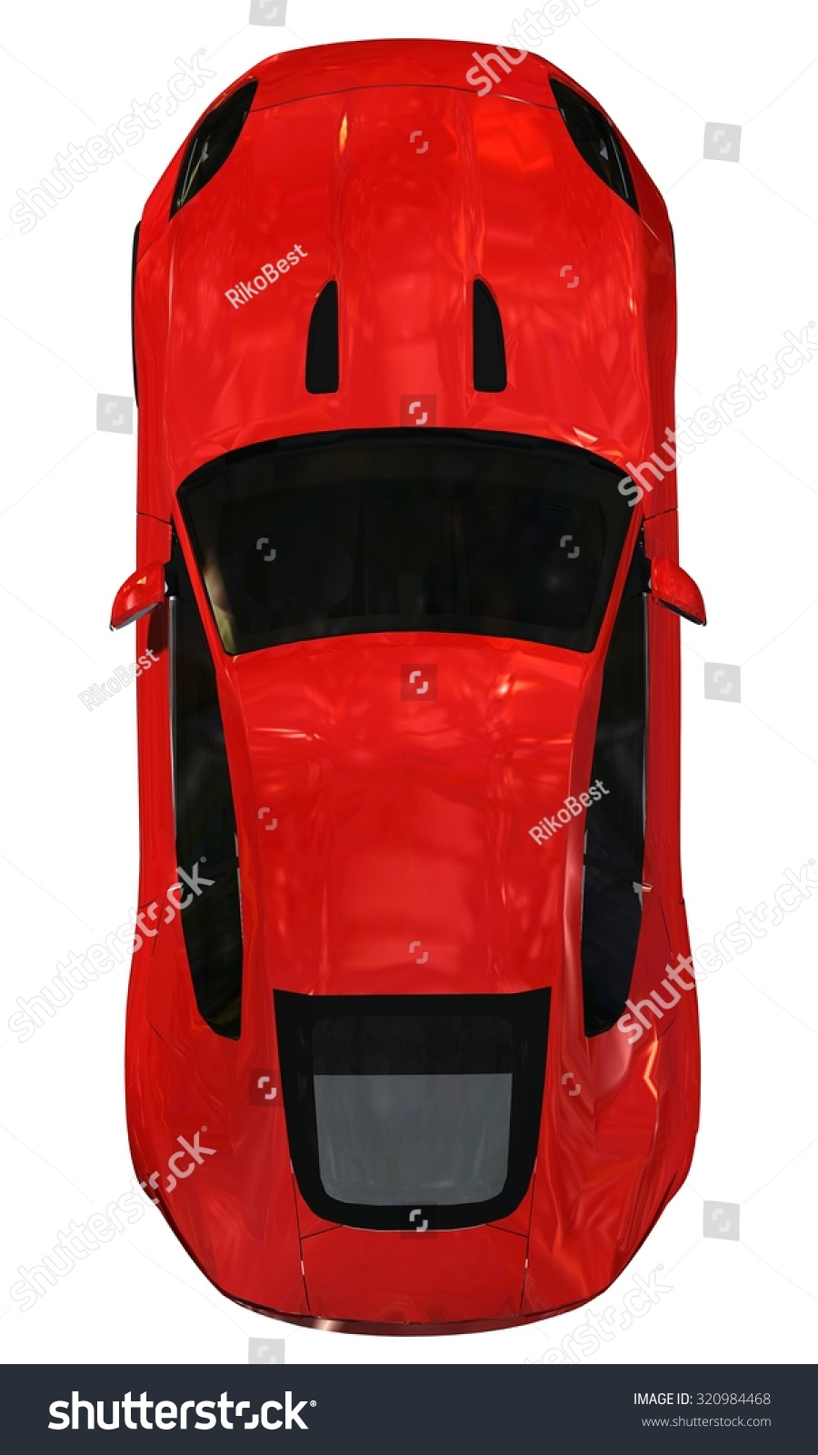 Sports Car Top View Isolated On Stock Illustration 320984468