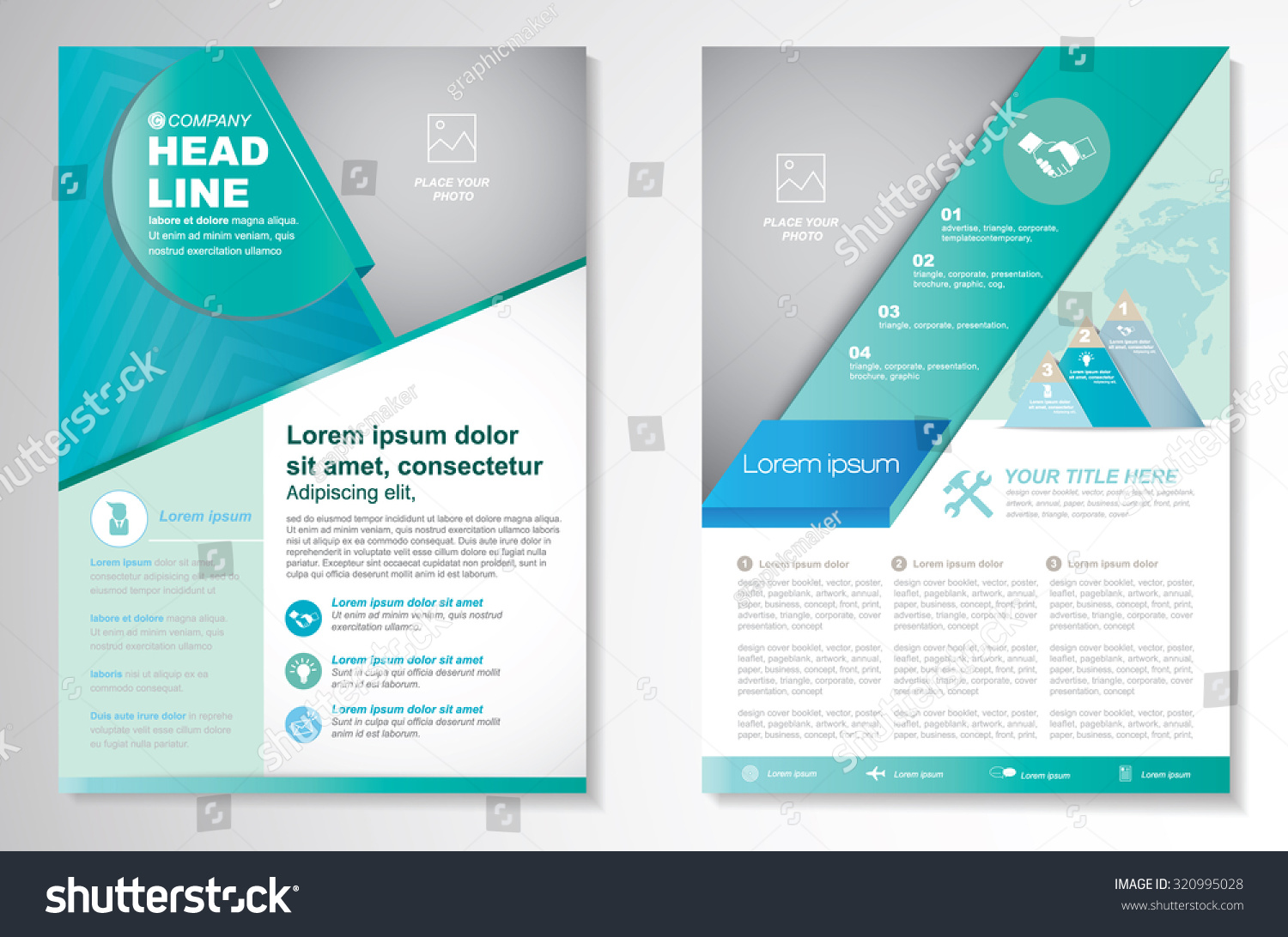 royalty vector brochure flyer design layout 320995028 stock vector brochure flyer design layout template size a4 front page and back page