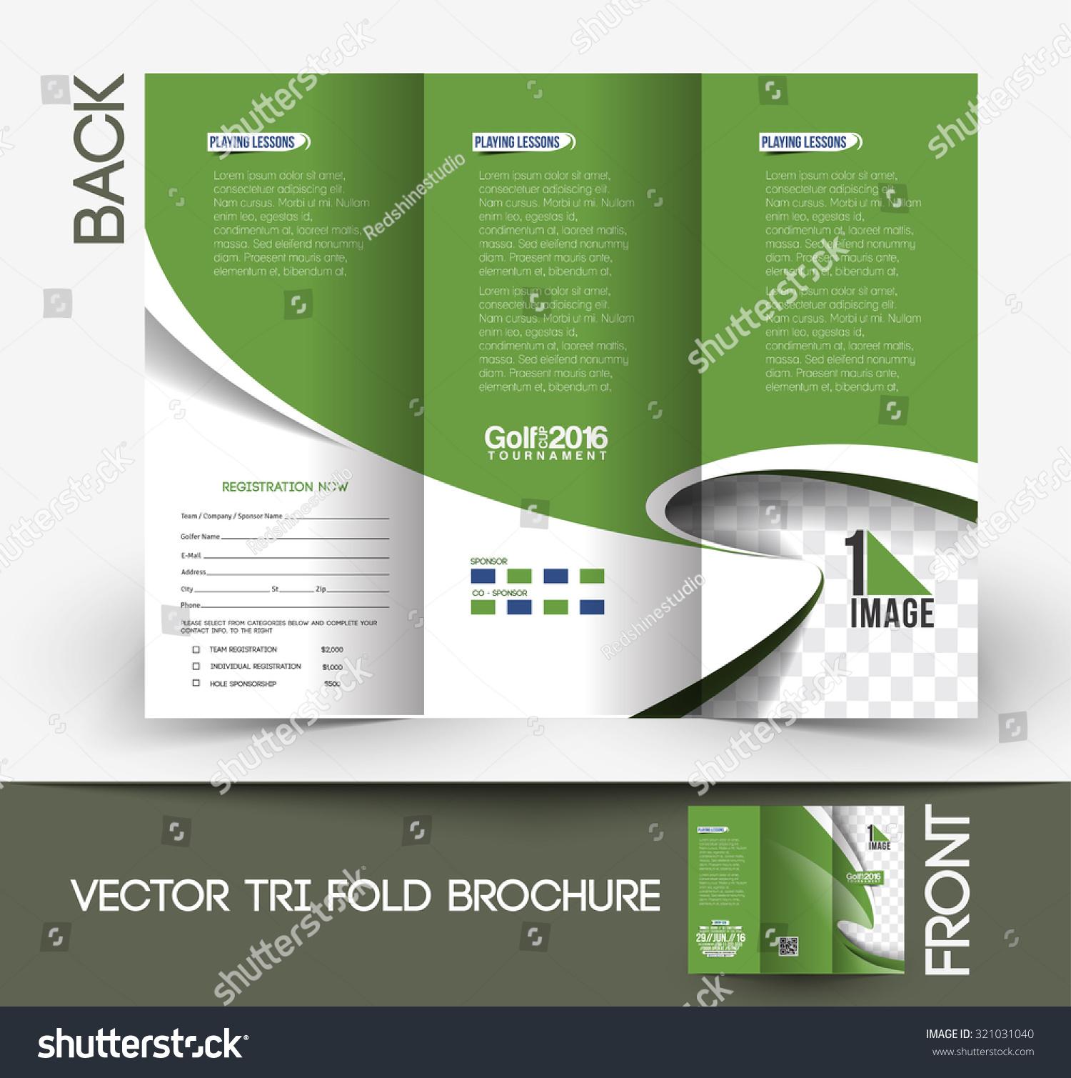 Golf Tournament Tri Fold Mock Up U0026 Brochure Design