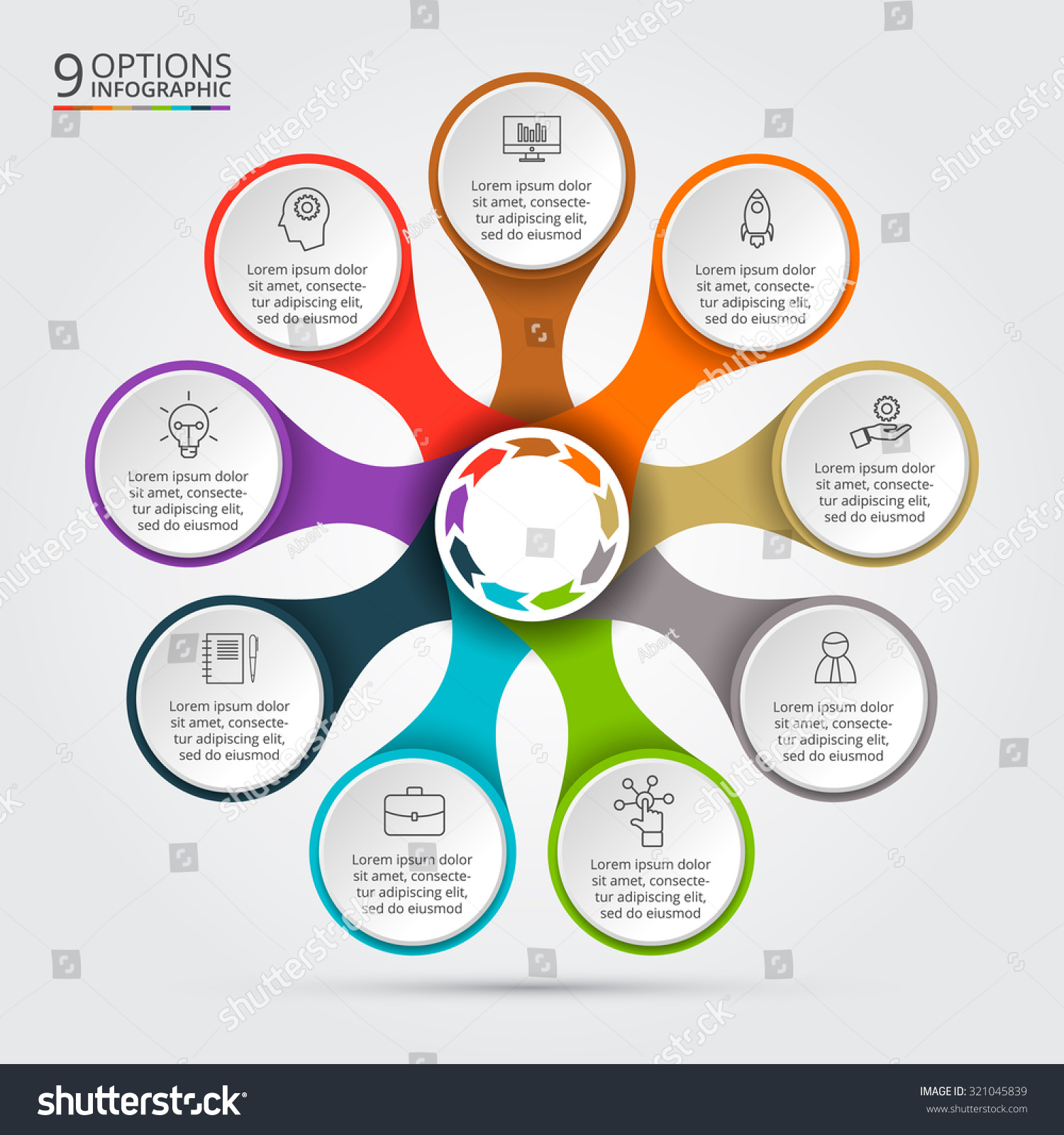 Vector Infographic Design Template Business Concept Stock Vector ...