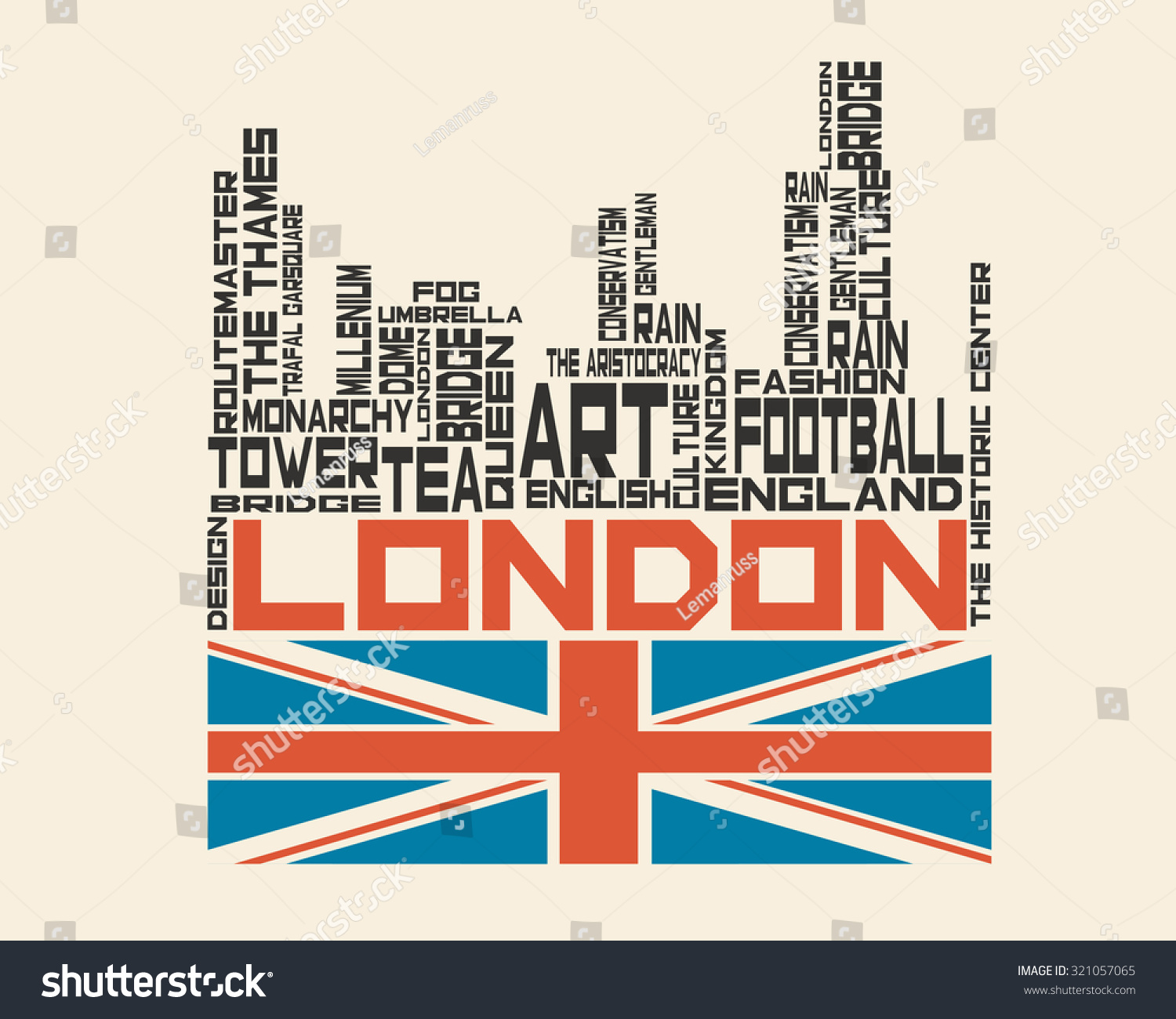Shirt design london - London City Concept Word And Icon Cloud Hipster Style T Shirt Design