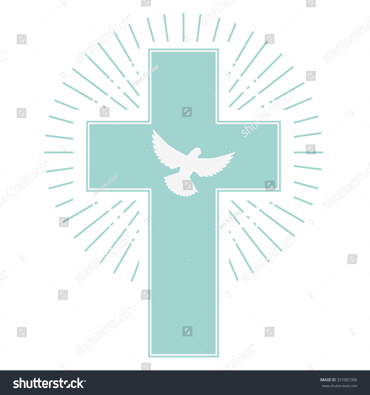 Cross and dove background - photo#19