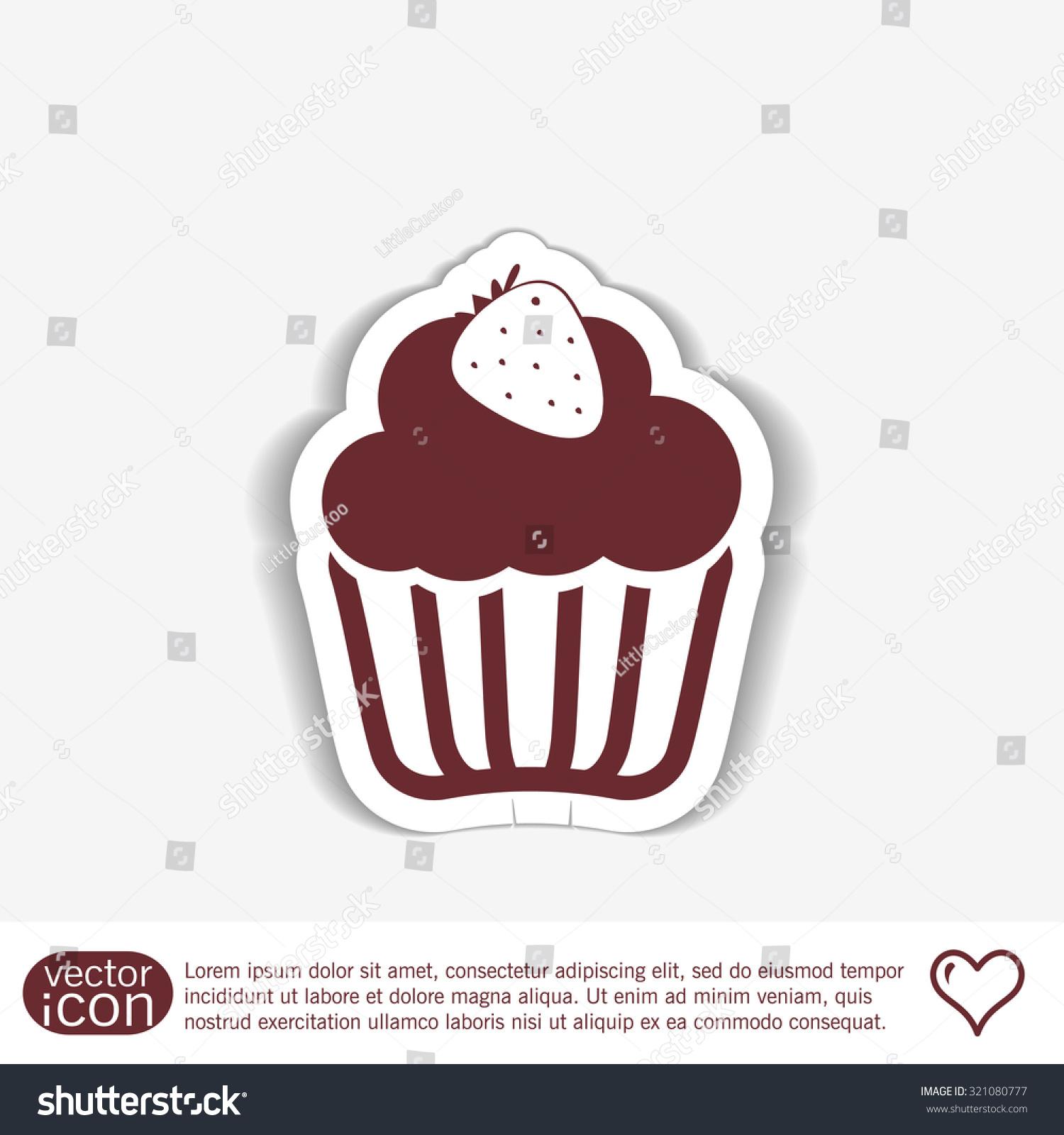 Birthday cake icon symbol cake celebrating stock vector 321080777 birthday cake icon symbol of cake celebrating the birthday of the loaf biocorpaavc
