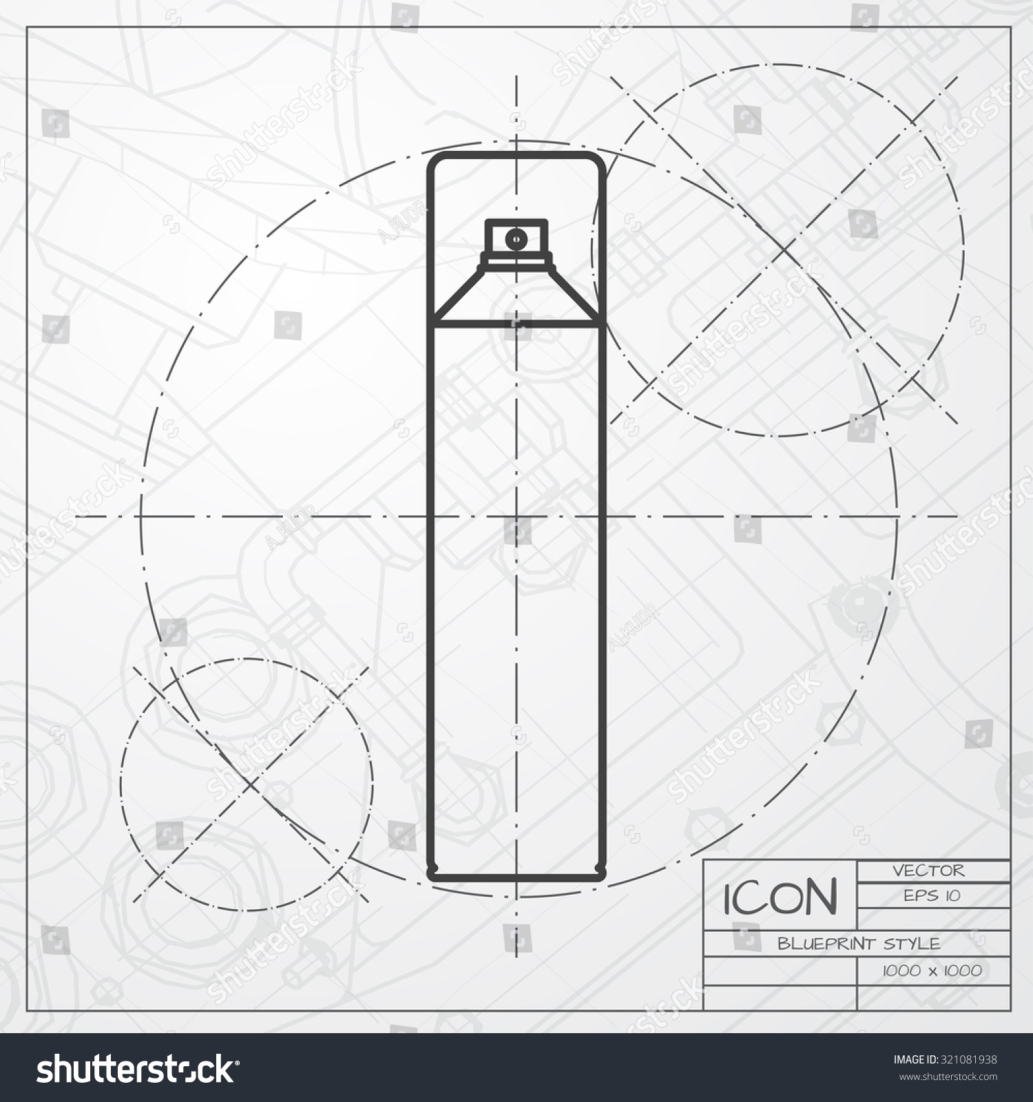 Vector classic blueprint air freshener aerosol stock vector vector classic blueprint of air freshener aerosol bottle on engineer and architect background malvernweather Gallery