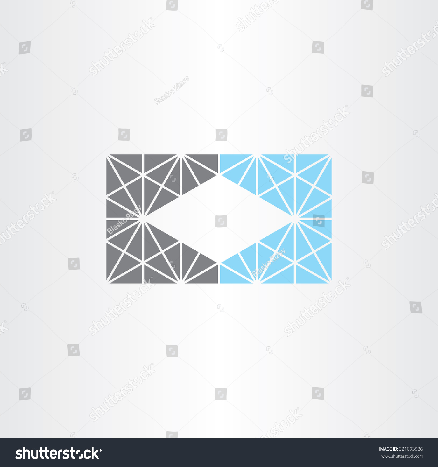 Unusual Geometric Business Card Frame Background Stock Vector ...