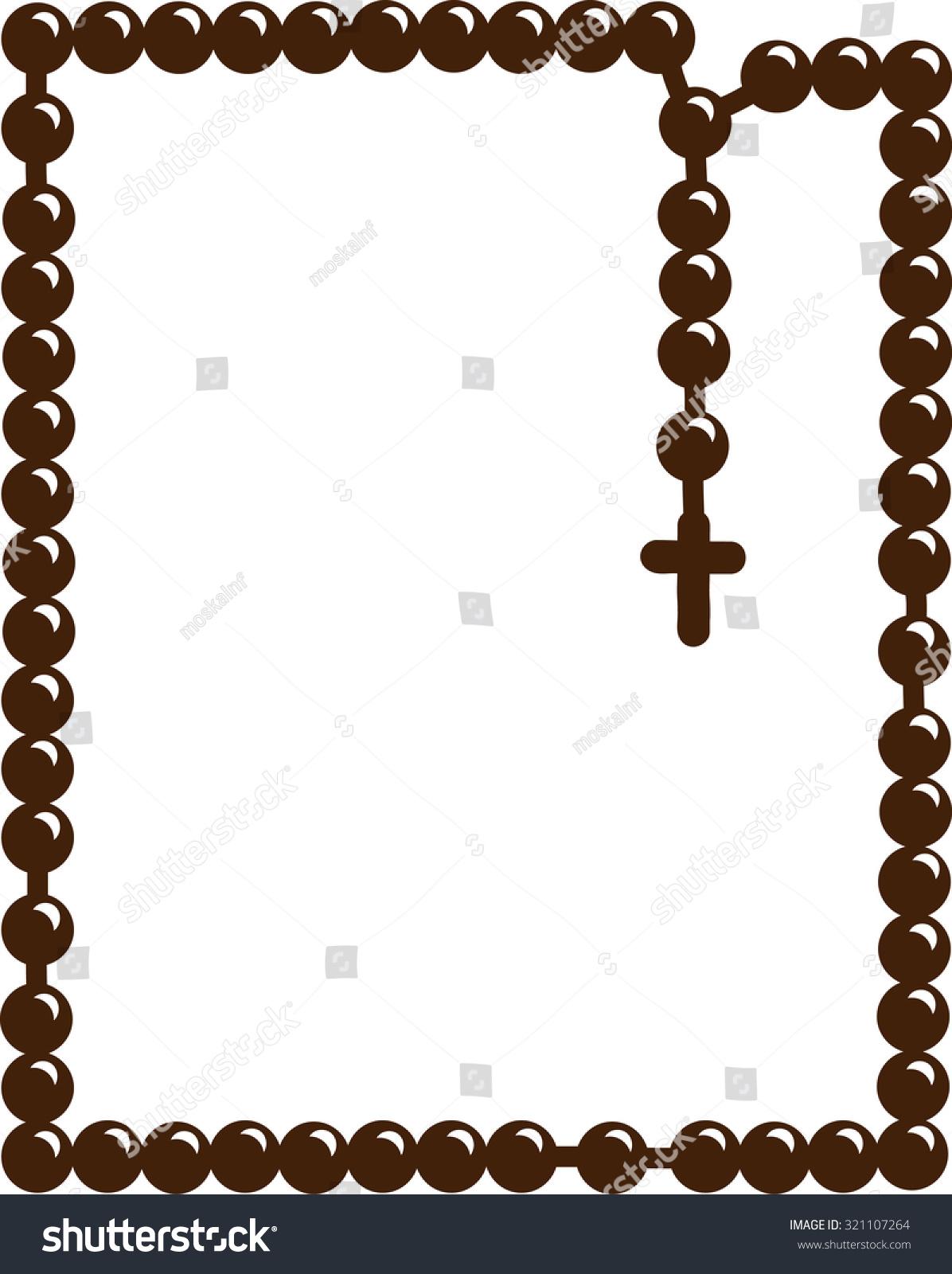 Holy Rosary Christian Rosary Symbol Faith Stock Vector Royalty Free