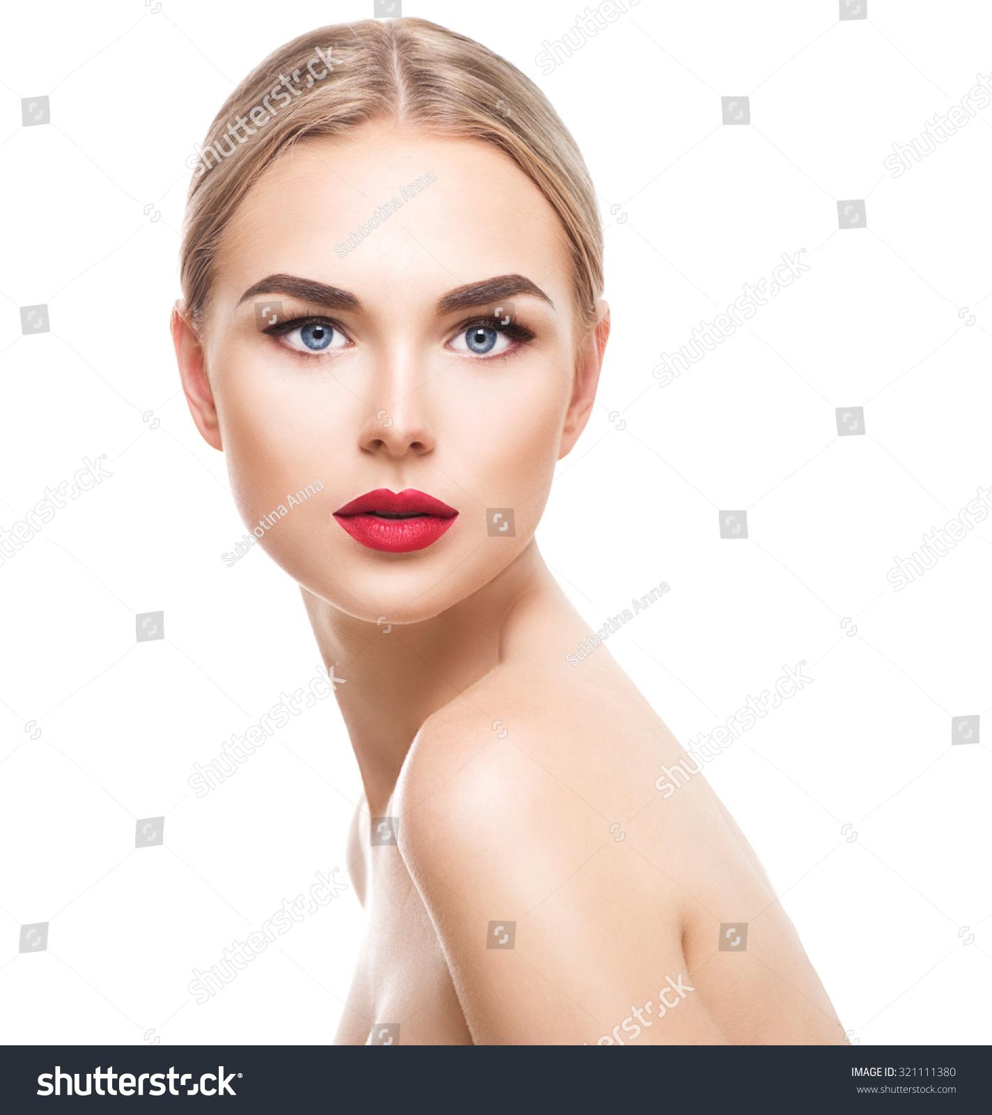 Beauty model girl perfect makeup looking stock photo 321111380 shutterstock - Garls perpact ...