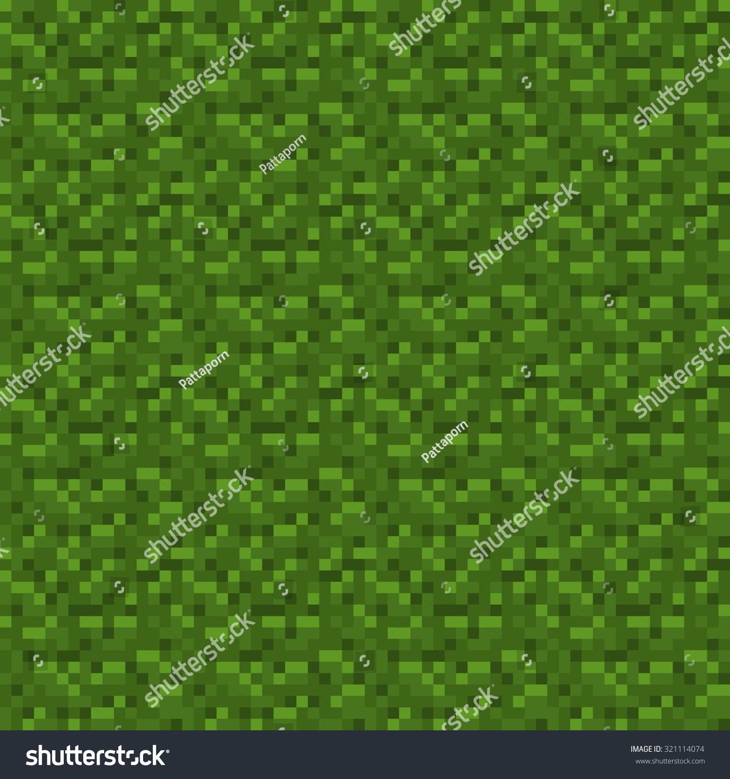 Abstract Dark Green Pixelated Pattern Seamless Stock