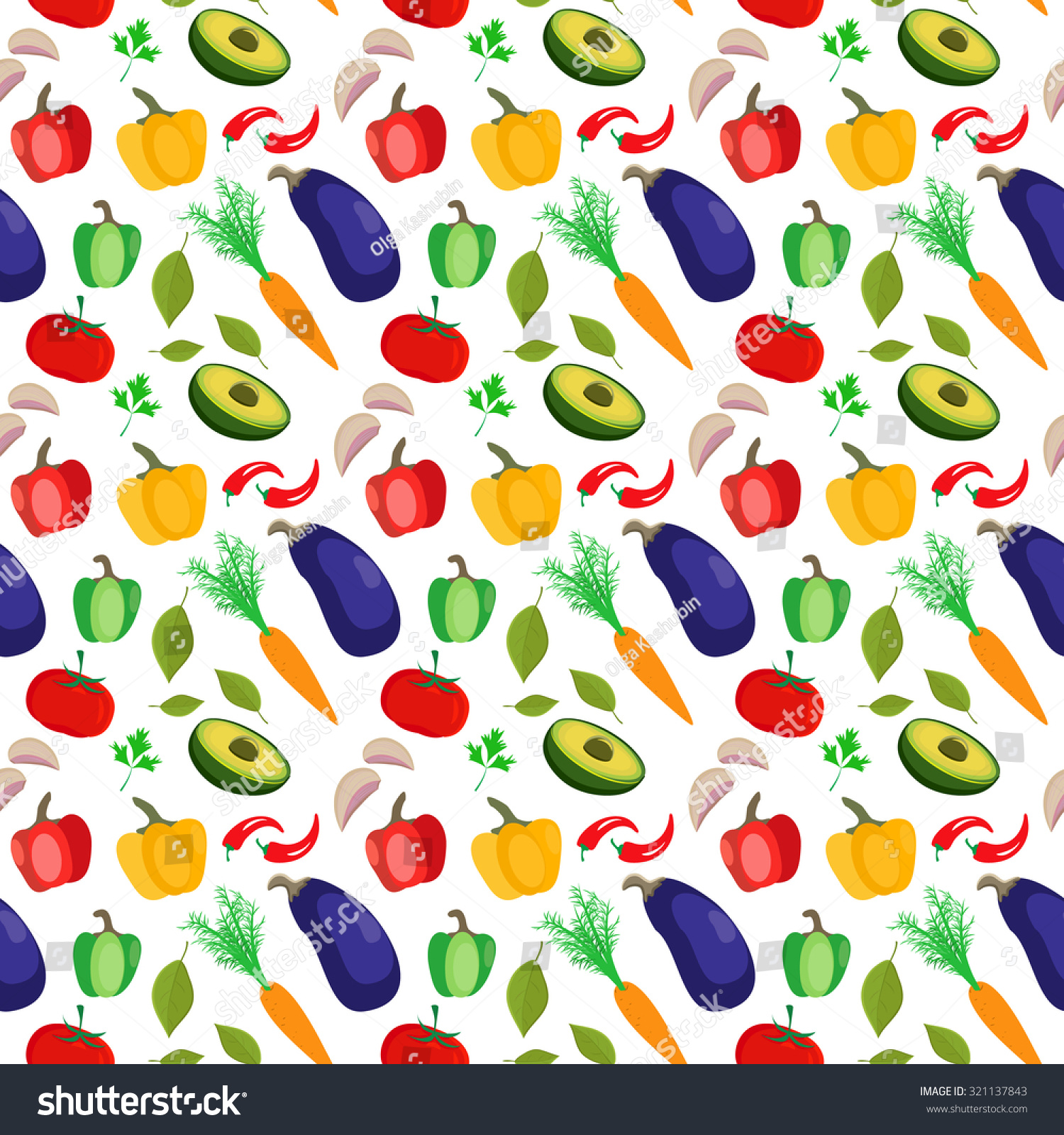 Scrapbook paper cooking - Seamless Pattern With Colorful Vegetables Cool Modern Background For Web Wallpapers Packaging Bag