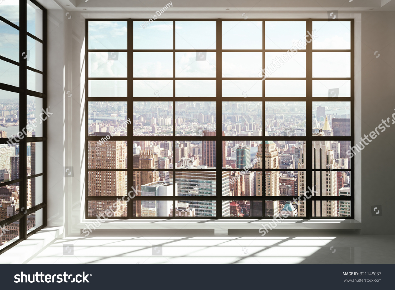 Floortoceiling windows city view stock photo 321148037 for Floor to ceiling windows