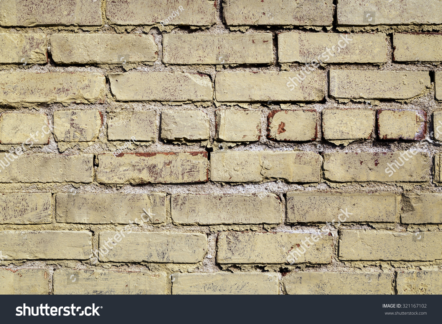 Old Painted Exterior Brick Wall Stock Photo 321167102 Shutterstock