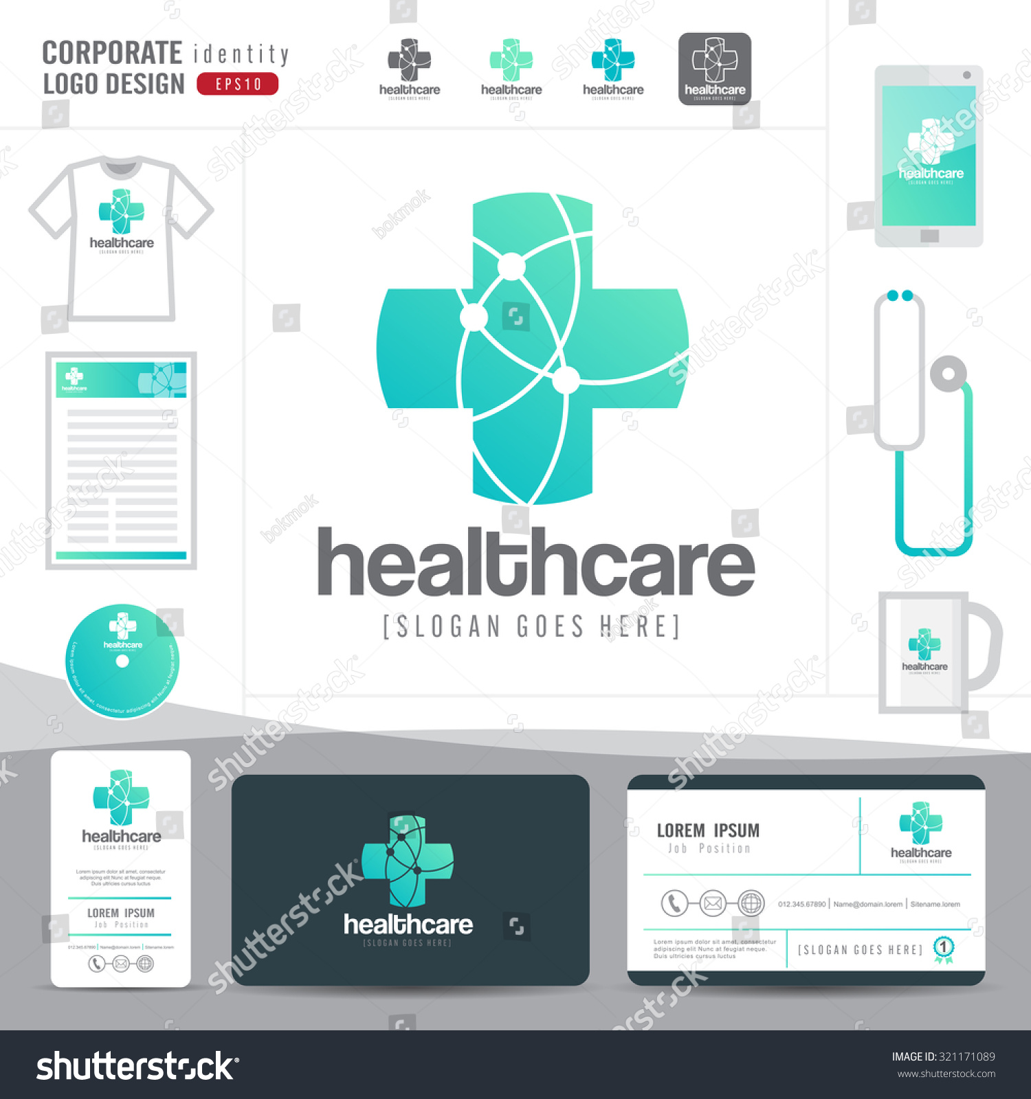 logo design medical healthcare hospital business stock vector