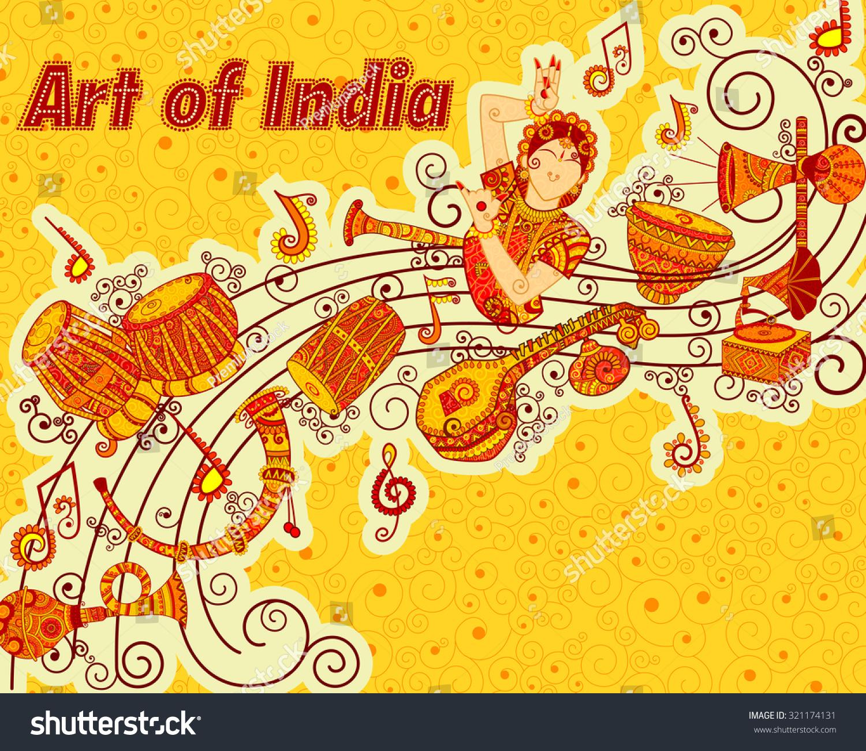 Indian Musical Instruments Tabla Vector Design Art Musi...