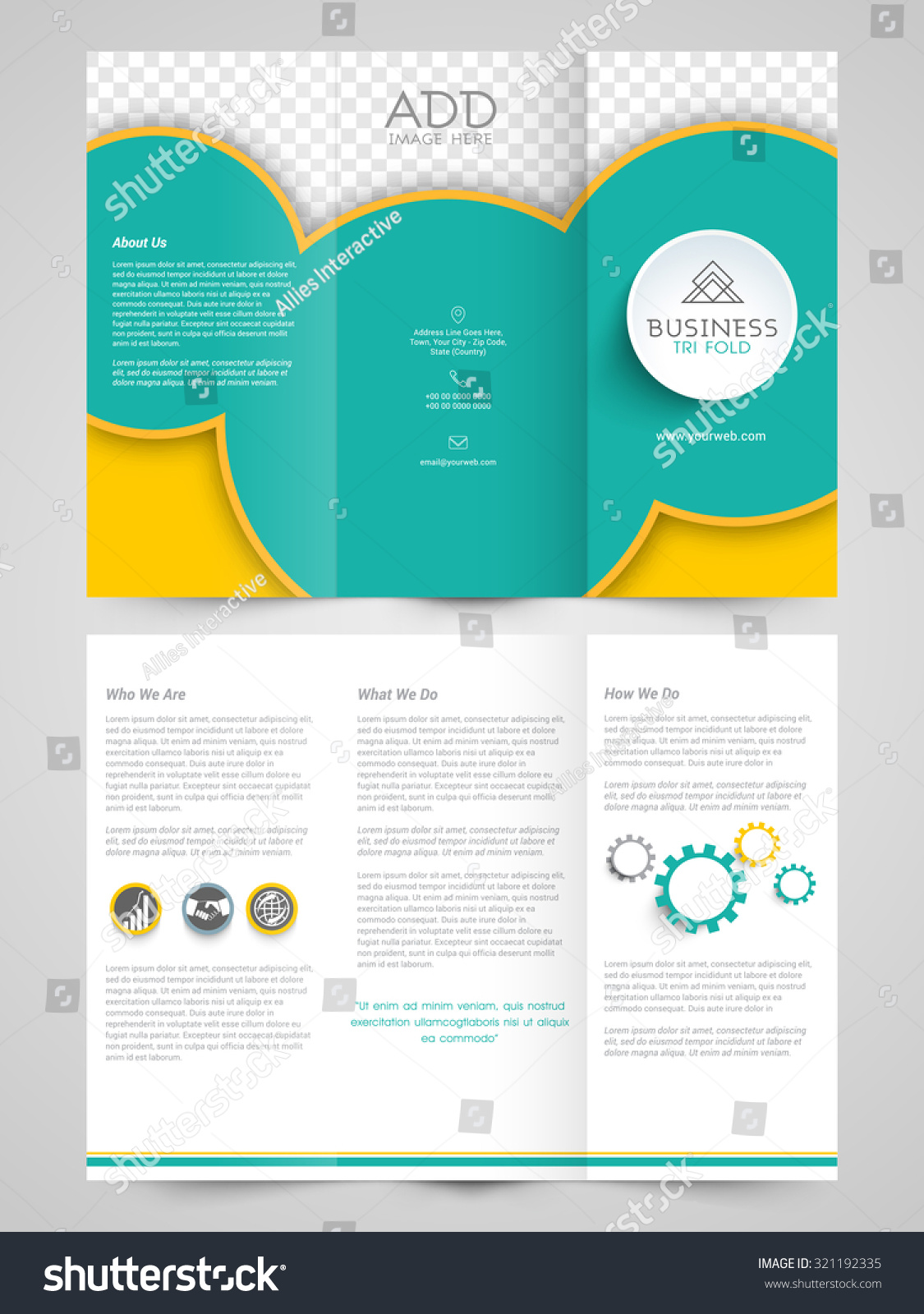 commercial brochure templates - creative professional trifold brochure template flyer