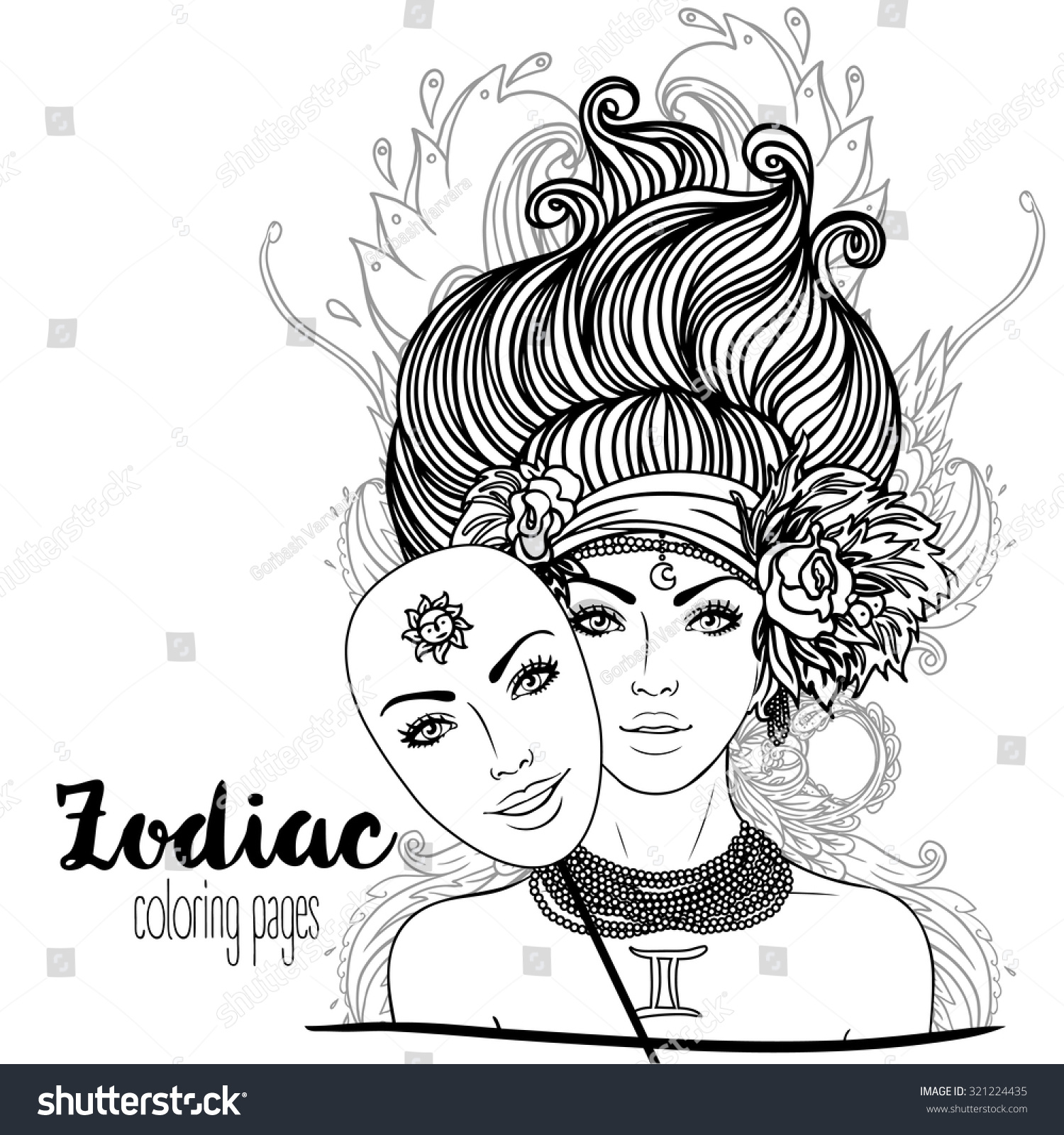 africain zodiac coloring pages - photo#7