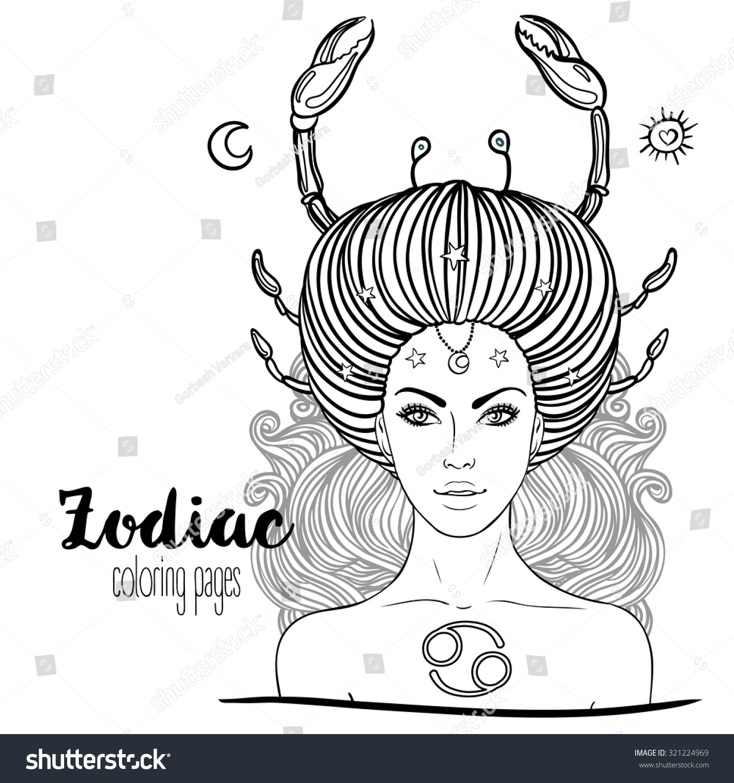 africain zodiac coloring pages - photo#15