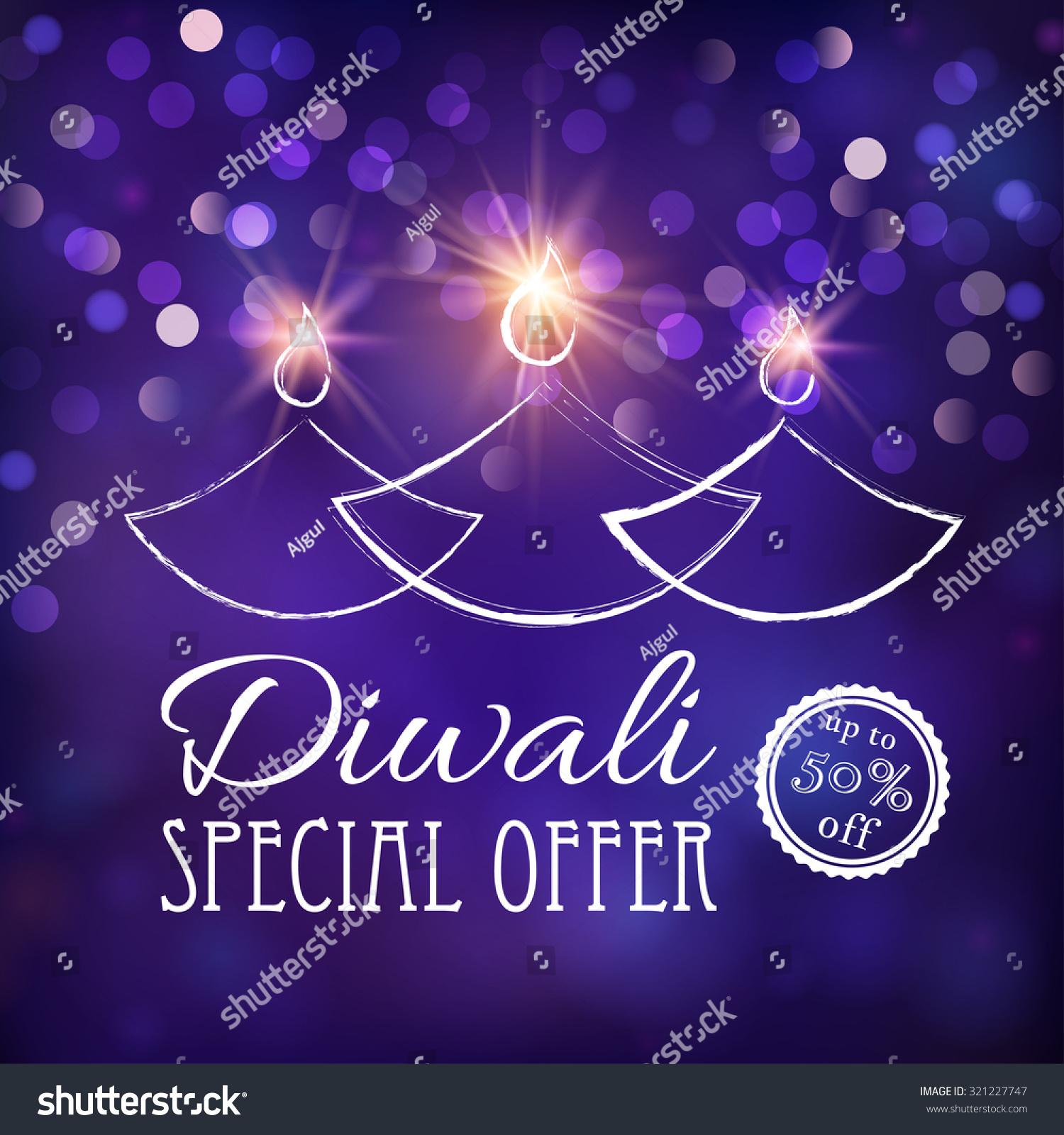 Stock Vector Diwali Sale