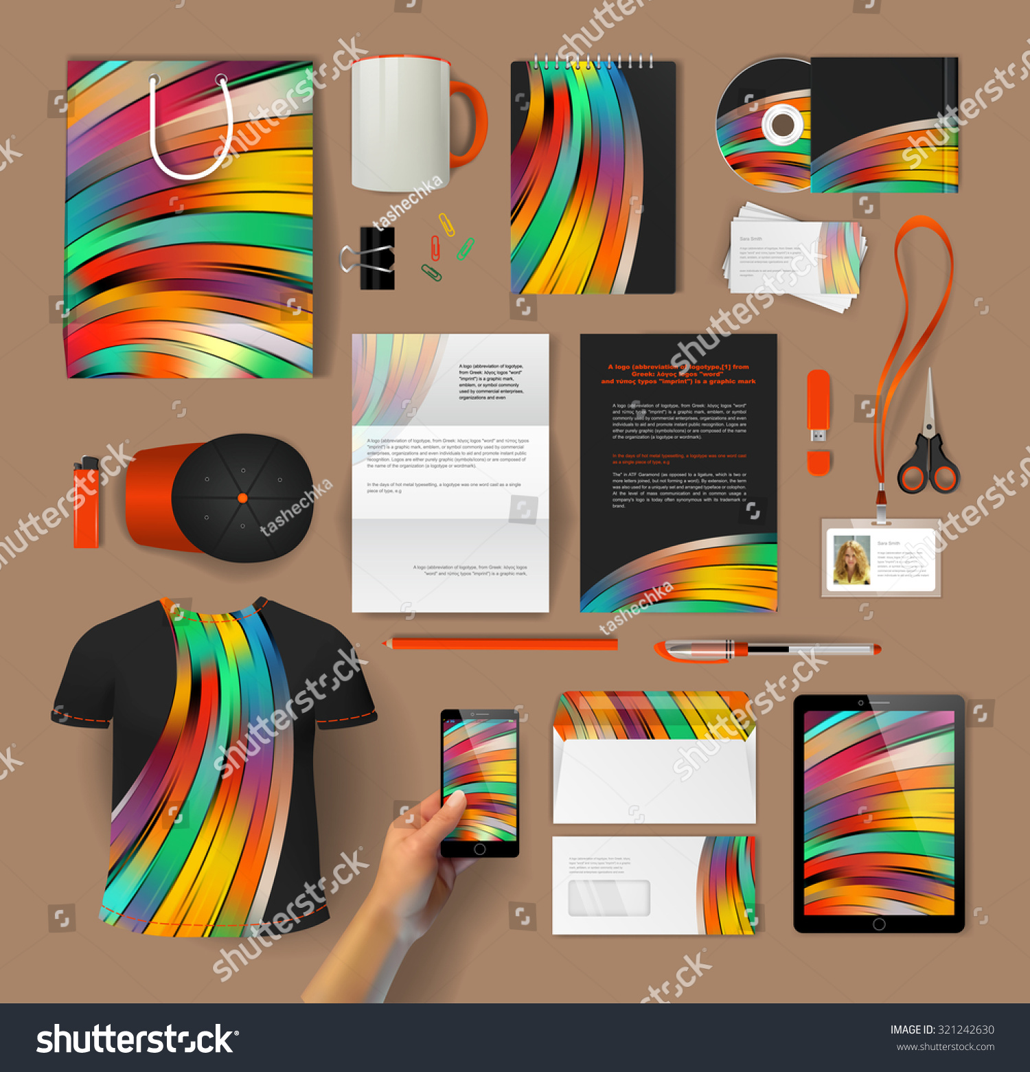 Shirt design envelope - Corporate Identity Templates Blank Business Cards Disk Envelope Smartphone Pen