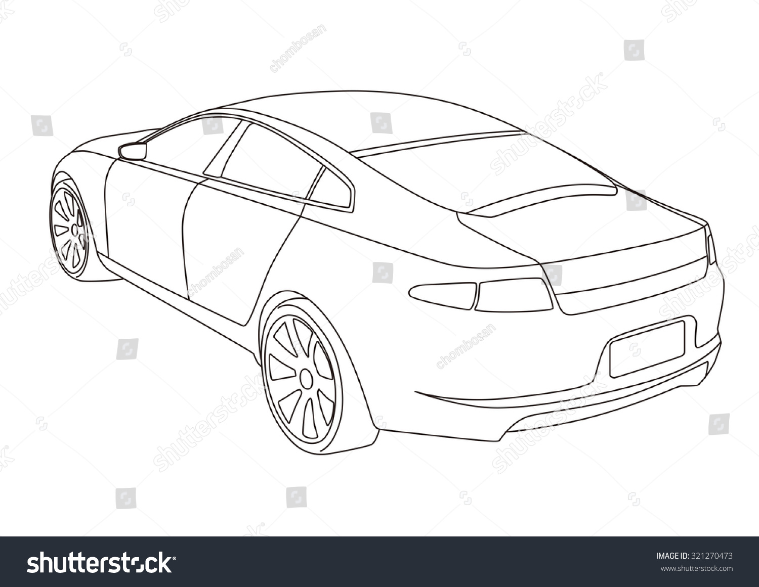 Line Drawing Vehicles : Line drawing car illustration vectores en stock