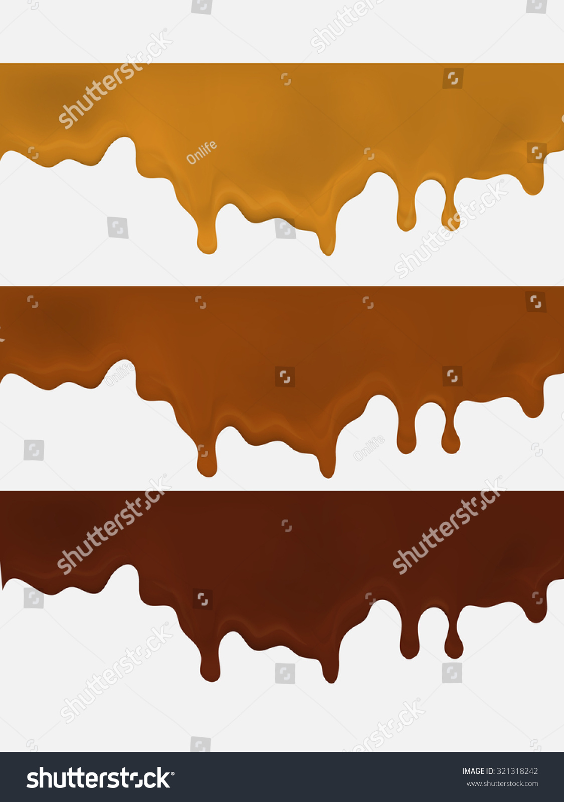 Melted chocolat... Dripping Chocolate Background