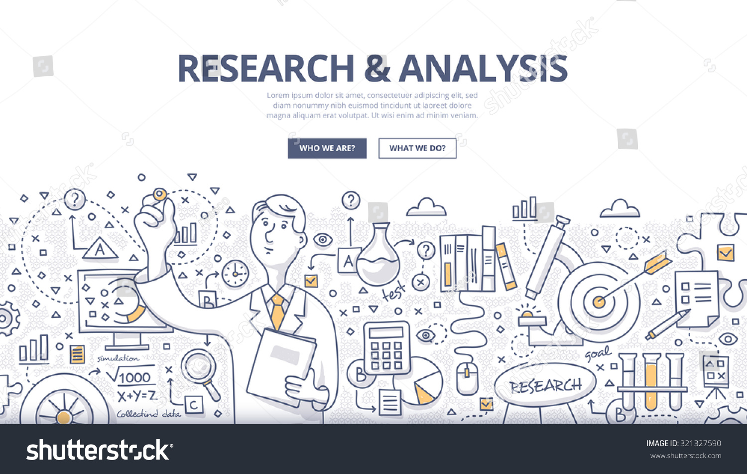 Doodle Style Concept General Research Analysis Vector – Research Analysis