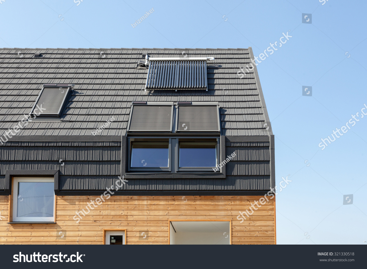 Energy saving concepts new building energy stock photo for Efficient roofing