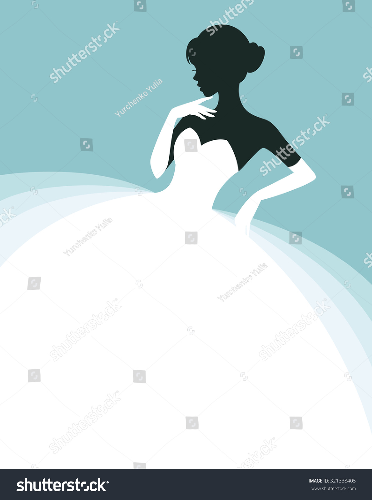 vector beautiful w wedding dress invitation stock vector vector of a beautiful w in a wedding dress invitation or flyer template for the