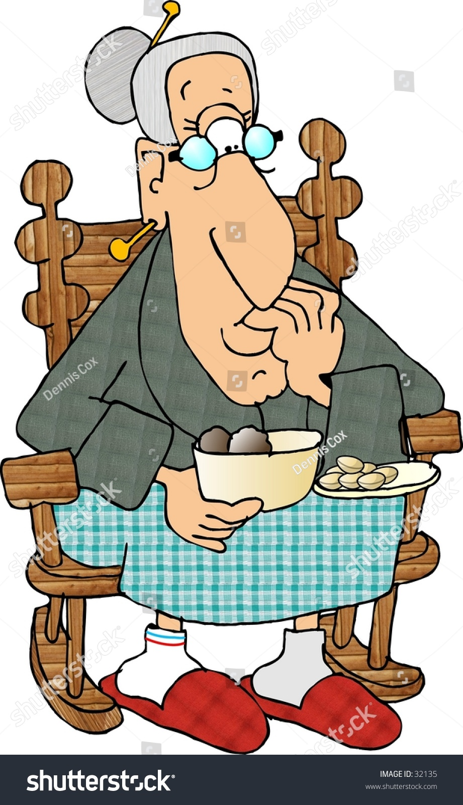 rocking chair clipart. Clipart Illustration Of An Old Woman Sitting In A Rocking Chair U