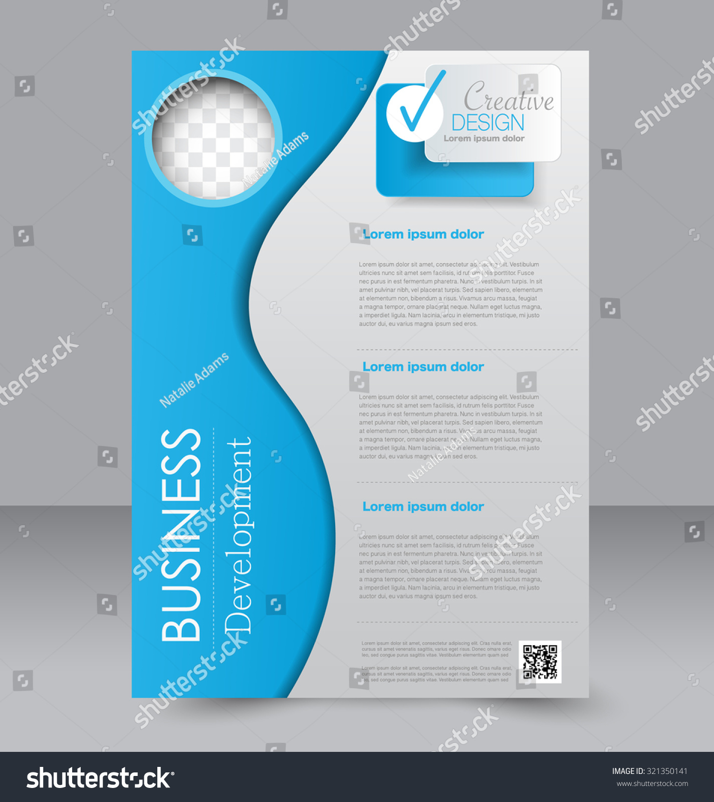 Brochure Template Business Flyer Editable A Stock Vector - Editable brochure templates