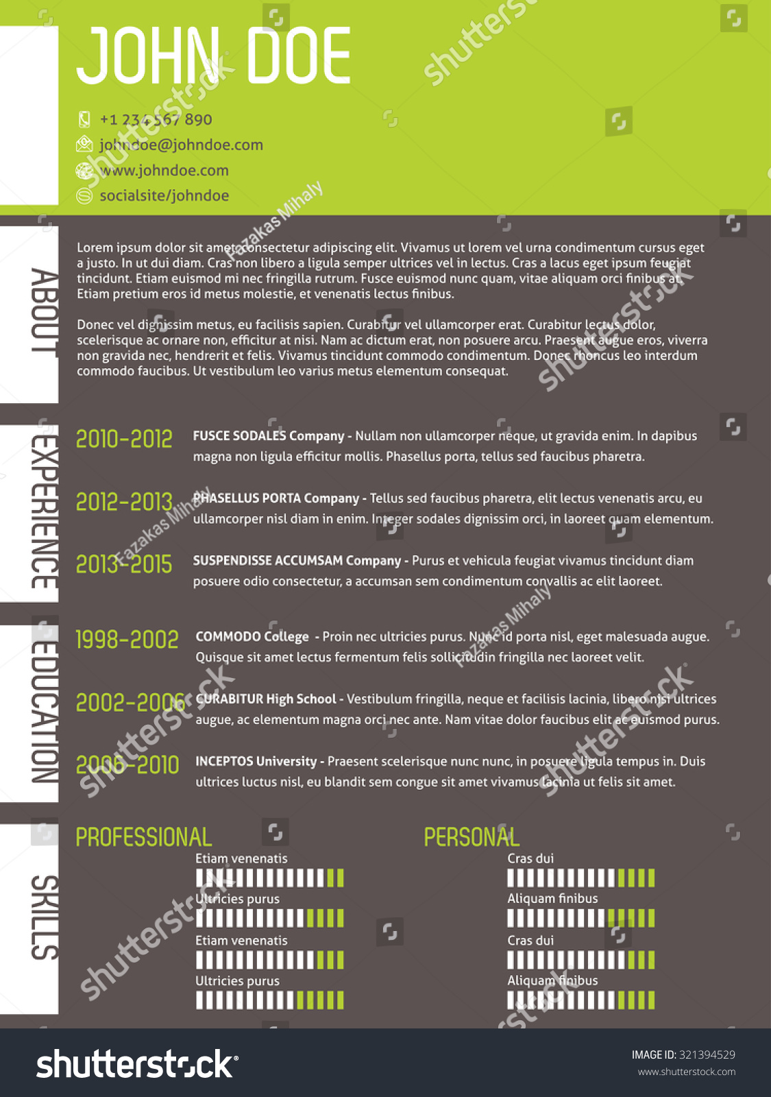 Resume Template Modern. Modern Resume Examples Unique Resume Cover ...
