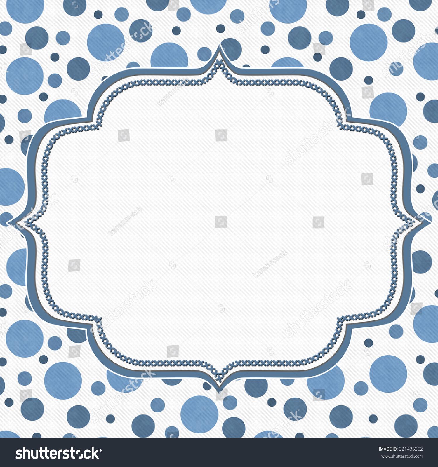 Blue White Polka Dot Frame Embroidery Stock Illustration 321436352 ...