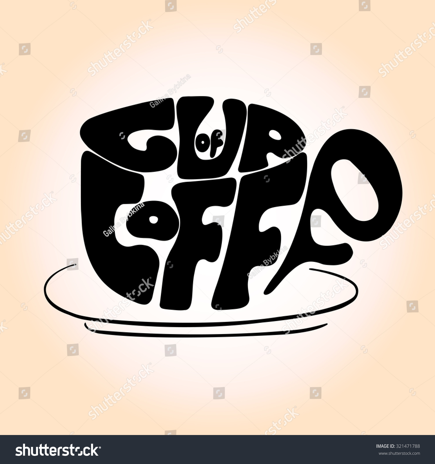 Poster design maker - Hand Drawn Typography Poster Design With Coffee Maker Silhouette And Phrase In It Cup