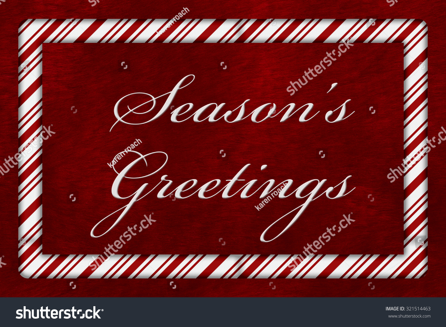 Seasons greetings message candy cane border stock illustration a seasons greetings message a candy cane border with the words seasons greetings over red m4hsunfo