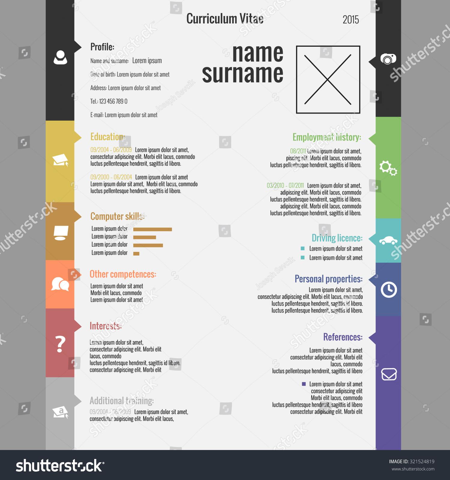 vector modern cv resume template stock vector 321524819 shutterstock vector modern cv resume template