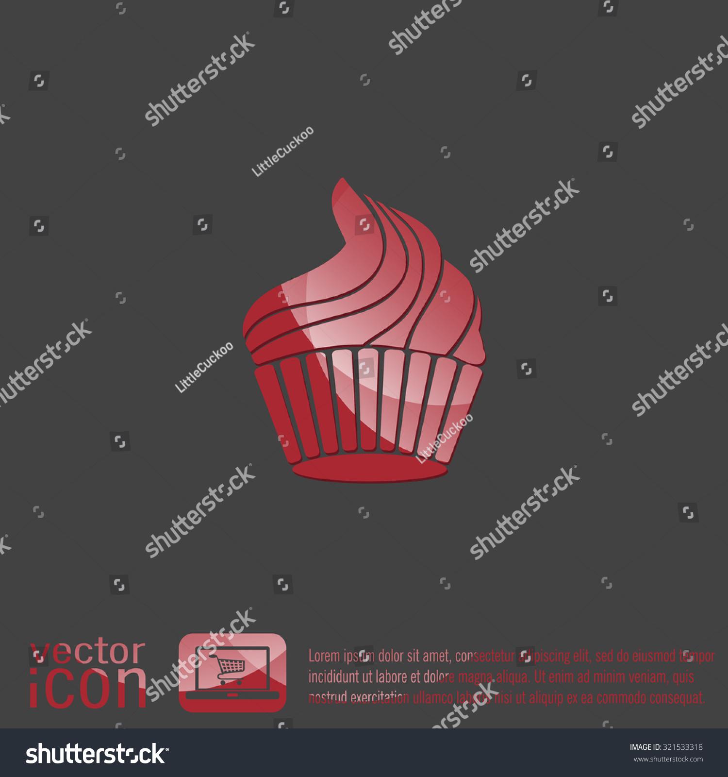 Birthday cake icon symbol cake celebrating stock vector 321533318 birthday cake icon symbol of cake celebrating the birthday of the loaf biocorpaavc