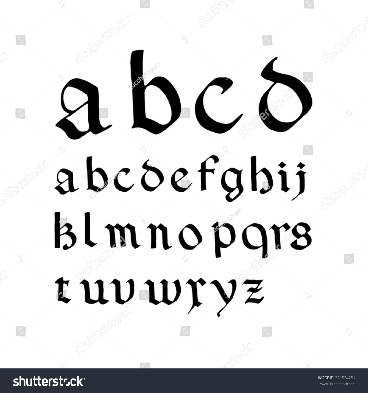 Font Inspired By Medieval Blackletter Script Rotunda