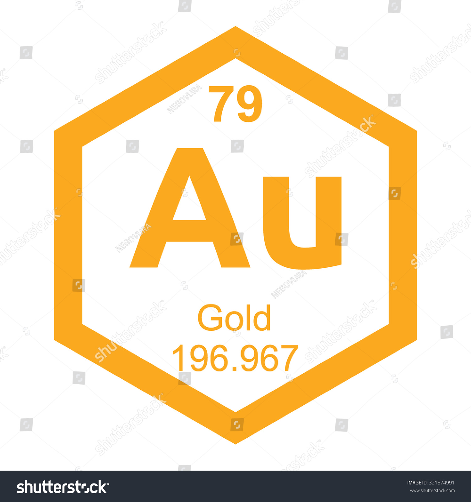 Periodic table gold element stock vector 321574991 shutterstock periodic table gold element gamestrikefo Images