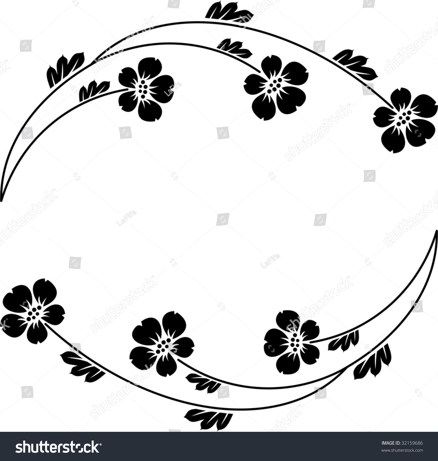 Flowers Silhouette Stock Vector Illustration Shutterstock