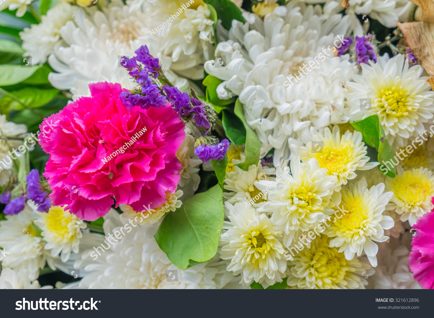Close Colorful Bunch Beautiful Flowers Stock Photo Edit Now