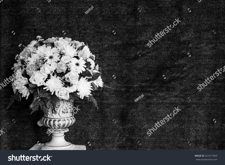 Black White Decorative Artificial Flowers Back Stock Photo Edit Now