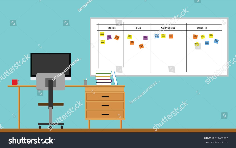 Scrum Agile Board Office Design Concepts Table And Scrum