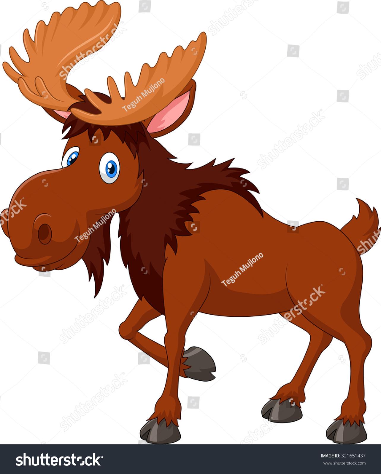 Moose face cartoon - photo#18