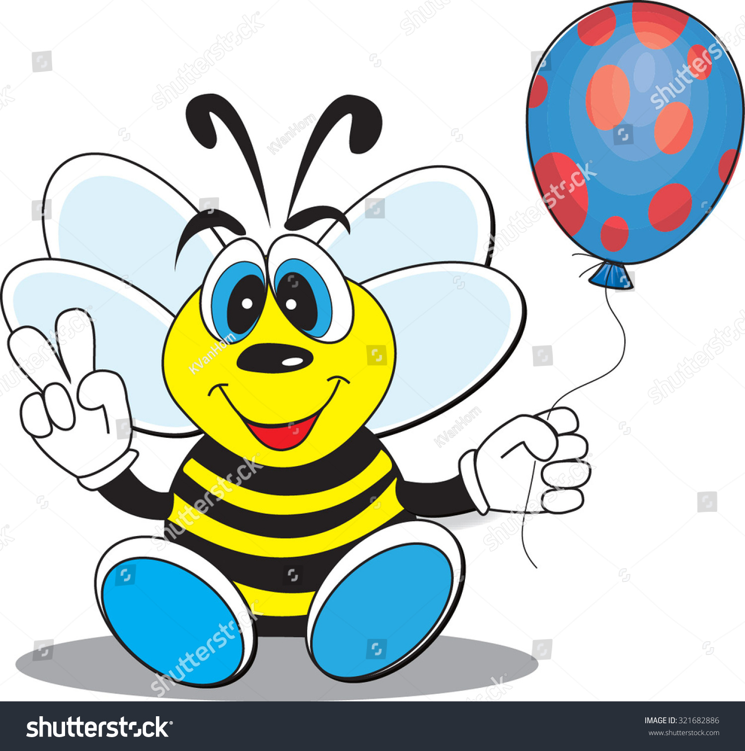 Cartoon bumble bee cartoon style holding stock vector 321682886 cartoon bumble bee cartoon style holding a balloon for a kids party or mascot character symbol biocorpaavc