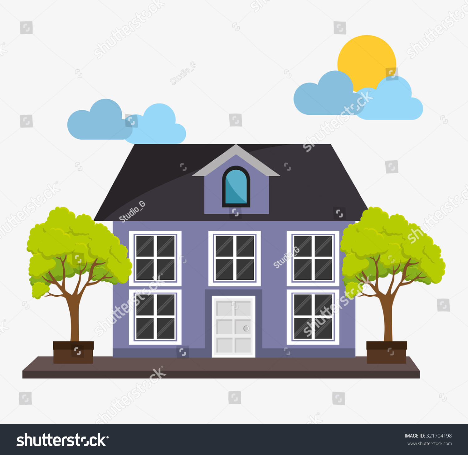 Real Estate Home Design Vector Illustration Stock Vector 321704198 ...