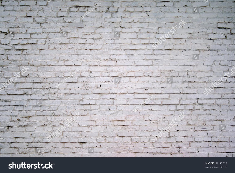 Painted White Brick Wall Stock Photo 32172319 Shutterstock